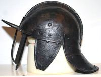 3 bar lobster pot helmet - leftside