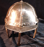 single bar lobster pot helmet - front