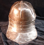 single bar lobster pot helmet - rear