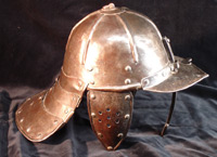 single bar lobster pot helmet - side