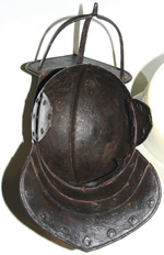 3 bar lobster pot helmet - underside